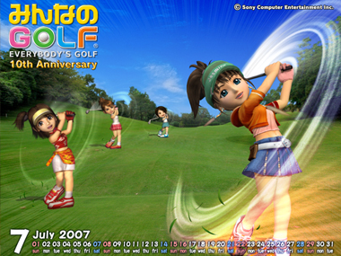 Minna no Golf 10th Aniversary Calendar